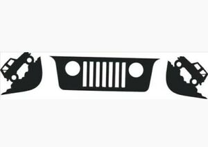 Jeep Wrangler Windshield Replacement Decals Jk Tj Grill And Corner Replica
