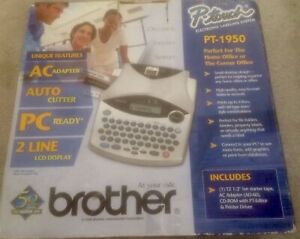 Brother P touch Pt 1950 Portable Electronic Labeling System Excellent Cond