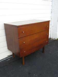 Mid Century Large Nightstand Side Table Tv Console Dresser By Stanley 8917