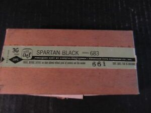 American Type Founders Co 36 Point Printers Blocks Capitals Spartan Black 683