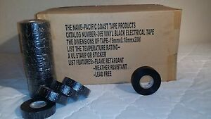 pack Of 82 Electrical Tape Black 3 4 By 66ft