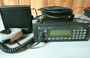 Motorola Mcs2000 800 Mhz Radio M01ugm6pw6bn With Remote Cable Hkn6112b