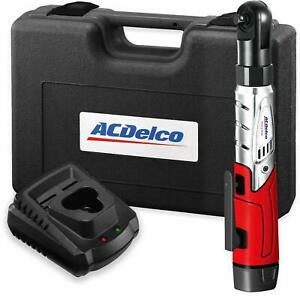 Acdelco Cordless 3 8 Ratchet Wrench 12v Angled 55 Ft Lb Tool Set With 1 Li Ion
