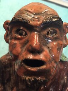 Old Pottery Asian Man Over Hundred Years Old