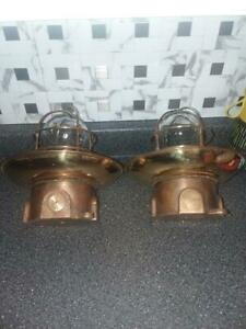 Lovell Brass Ship Ceiling Mount Explosion Proof Lights Nautical Industrial