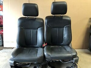 2014 Ford F150 Fx4 Crewcab Front Leather Bucket Seats W Heat And Cooling