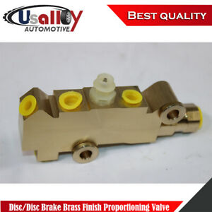 Suit Chevy Gm Disc Disc Brake Brass Finish Proportioning Valve