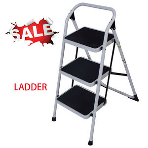 Non slip Folding 3 Iron Step Ladder Hand Grip Iron Frame Step Tool Handrails