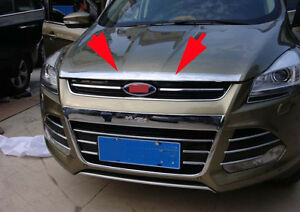 Front Engine Lid Cover Trim For Ford Escape Kuga 2013 2018 Abs Chrome Molding
