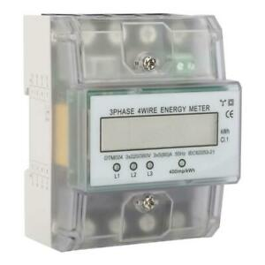Electric Digital Lcd Energy Power Meter 220v 380v 3 Phase 4 Wire Din Rail Kwh Cl