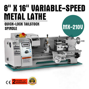8 X 16 Variable speed Mini Metal Lathe Infinitely Variable Tooling Cutter