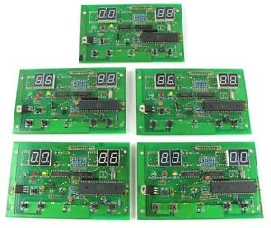 5 Piece Circuit Board Lot With Led Display New