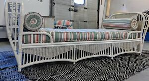 Gorgeous Vintage Ficks Reed Bentwood Rattan Sofa Daybed