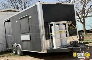 2018 8 5 X 20 Food Concession Trailer With Porch For Sale In Texas