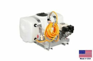 Sprayer Commercial Skid Mounted 7 Gpm 150 Psi 5 5 Hp 50 Gallon Tank