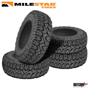 4 X New Milestar Patagonia M T 35x12 5x20 125q Max Traction Off Road Tire