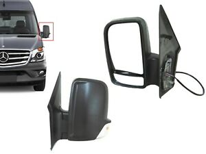 For Mb Sprinter Van Left Driver Side View Mirror Short Arm Heated Power Signal