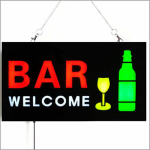 Leds Custom Blinking Led Shop Bar Welcome Business Signs Animated Motion Display