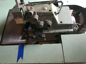 Industrial Sewing Machine Yamato Overlock With Table And Clutch Motor
