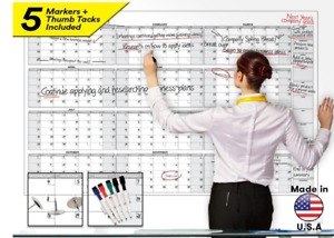 Monthly Planner Dry Erase Board Large Wall Calendar Office Scheduling 58 X 38