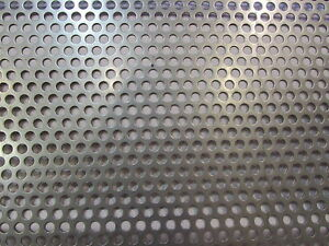 16 Ga 304 Stainless Perforated Sheet 1 4 holes On 3 8 Centers 12 X 24