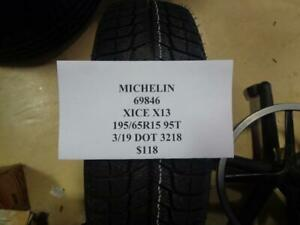 4 New Michelin X ice X13 195 65 15 95t Tires Wo Label 69846 Q9 Bsr