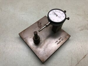 Mitutoyo Dial Indicator no 2776f 0005 Made In Usa Machinist Tool W Stand
