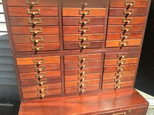 Mahogany File Cabinet Library Brueau Sole Maker 38 Drawers