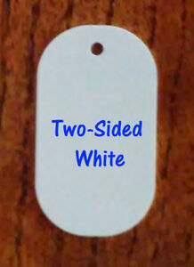 2 Sided White Gloss Aluminum Dye Sublimation Dog Tag Blanks 100 Pieces