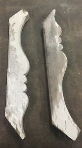 Vintage Antique Wooden Pair Of Headboard Baseboard Decorative Pieces