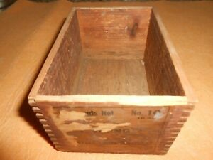 Antique Viking Swedes Trimmers Tacks Dovetail Wood Box
