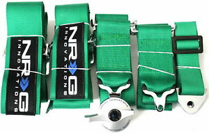 Nrg Green 5 Point Racing Seat Belt Harness Safety Belt Cam Lock