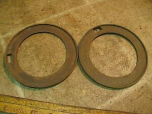 2 International 3447aa False Ring Corn Planter Plates Mccormick Ih Ihc Cast Iron