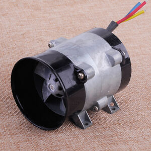 12v 16 5a Car Auto Electric Turbine Power Turbo Charger Tan Boost Air Intake Fan