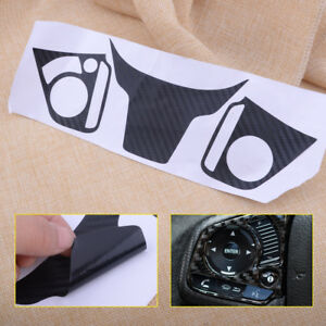 Black Steering Wheel Decorative Emblem Cover Sticker Fit For Honda Civic 2016 17