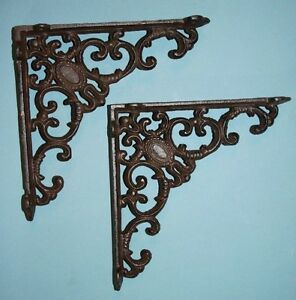 2 Pcs 8 Inch Shelf Brackets 8 Cast Iron Shelf Brackets Vintage Look B 29