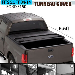 Tonneau Cover Soft Tri Fold For 04 14 Ford F150 Pickup Truck 5 5ft Bed New