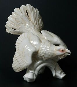 Karl Ens Huge 12 Tall Porcelain Figurine Statue Of A Bird Or Grouse Perfect