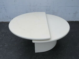 Rotating Top Two Tier Marbleized Mid Century Hollywood Regency Coffee Table 9611