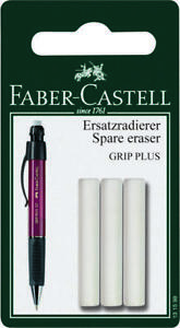 Faber castell Mechanical Pencil Erasers 3 Erasers Suitable For Grip Plus Models
