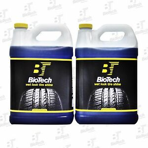 Wet Look Tire Shine Silicone Tire Shine Liquid Tire Shine 128oz 4 Units 1 Box