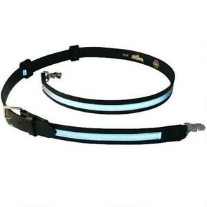 Boston Leather 6543r Firefighter s Radio Strap Standard 1 25 Reflective Plain