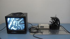 Unitron Mec 7415 Inverted Metallurgical Microscope System W Camera Monitor