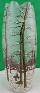 Legras Enameled Art Glass Vase Gorgeous