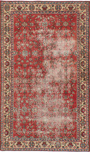 Hand Knotted Turkish Carpet 4 0 X 7 0 Anadol Vintage Traditional Wool Rug