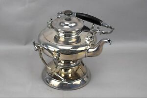 Antique Silverplate Tilt Stand Teapot Tea Light Heater J C Eagle Stamp German