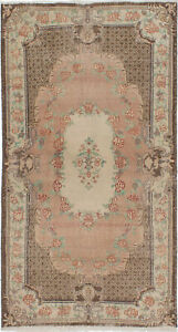 Hand Knotted Turkish Carpet 3 11 X 7 3 Melis Vintage Traditional Wool Rug
