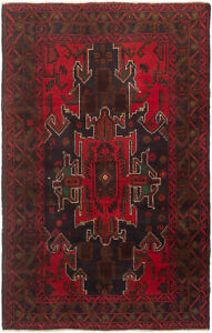 Hand Knotted Carpet 3 5 X 5 7 Traditional Vintage Wool Rug