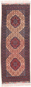 Hand Knotted Carpet 3 8 X 10 0 Traditional Vintage Wool Rug