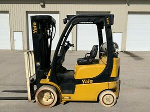 Yale Erc080 6000 Forklift Cushion Tire Electric Hilo Yale Towmotor Rigger